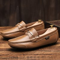 Wholesale casual shoes suit for sale - Group buy good quality Mens Summer Genuine Leather Suede Breathable Moccasins casual Driving Shoes Loafer Shoe men s suit shoe Dress Shoes