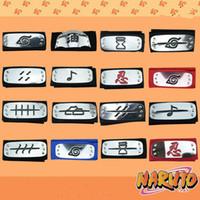 konoha cosplay naruto großhandel-2019 PrettyBaby Naruto Stirnband Blatt Dorf Logo Konoha Kakashi Akatsuki Mitglieder Metall Stirnband Cosplay Kostümzubehör versandkostenfrei