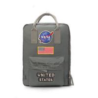 drapeau national de polyester achat en gros de-Brand New NASA Sac à dos 19ss Drapeau National Designer Sac à dos Hommes Femmes Designer Sacs Unisexe Étudiants Sacs