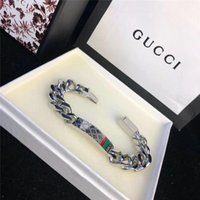 Wholesale couples wristband for sale - Group buy Fashion Gold plated Stainless steel gg chain Bracelet for Men and Women wristband Pattern jewelry party Club Couple Bracelets G2Gucci
