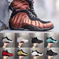 zapatos de baloncesto de color canela al por mayor-Nuevo Foam one Abalone Habanero Red Floral Penny Hardaway Hombres Diseñador Baloncesto Espumas Gold Alternate Tan Galaxy Fleece Zapatillas deportivas