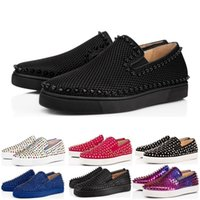 Wholesale pumps casual shoes resale online - luxury designer women men shoes low red bottoms Nude black red Leather Pointed Toes Pumps casual sneaker shoes