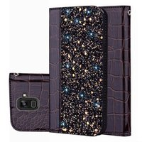 Wholesale smart card wallet for sale - Group buy For Huawei P20 Lite Pro Crocodile pattern Mobile Shell Nova i glitter stitching P Smart cases