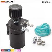 filtres bleus achat en gros de-EPMAN - Réservoir universel de réservoir d'huile en aluminium, réservoir de réservoir + filtre de reniflard Couleur: Rouge / Bleu / Noir EP-JYH08