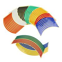 motosikletler için desal kitleri toptan satış-Floresan Motosiklet Jant Bant Etiketler Tekerlek Stripes Çıkartmaları Motosiklet Tekerlekleri için Aksesuar Sticker Kitleri