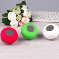 led mp3 cube оптовых-Bluetooth Speaker беспроводной водонепроницаемый душ Handsfree Mic всасывания Chuck Громкоговоритель Автомобильный портативный мини MP3 Super Bass вызова Receive