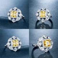 elmas sonsuzluğu toptan satış-925 Hanımefendi Taş Kaplama Beyaz Topu Parti Takı Elmas Yüzük Infinity Toptan Gümüş Erkek Yüzük