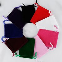Wholesale large wedding favor bags for sale - Group buy fashion CM Large Drawstring Bag Wedding Favor Jewelry bags Makeup Packing Gift Velvet Pouch Sack Storage Bag Home T2I5617