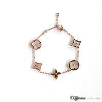 Wholesale pearl crystal bracelets resale online - Brand Fashion Luxury Designer Jewelry Women Bracelet High Quality Titanium Plated K Gold Crystal Charm Bracelet Best Christmas Gift
