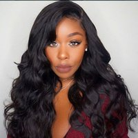 Wholesale 12 inch virgin indian wigs resale online - raw virgin indian hair full lace human hair wigs body wave full lace wigs for black women inch body wave wig