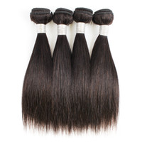 Wholesale hair for weaving for sale - Group buy Straight Hair Weave Bundles g pc Color B Black Cheap Peruvian Virgin Human Hair Weave Extensions for Short Bob Style