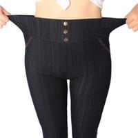 Wholesale plus size leggings sale resale online - Leggings Women Xl xl xl High Waist Jeans Leggins With Buttons Jeggings Plus Size Legging Solid Color Leggings Hot Sales