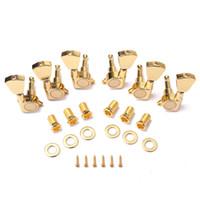 pinos de afinação de bloqueio venda por atacado-6PC Gold Locked String Tuning Pegs chaves Sintonizadores Cabeças de Máquina para Guitarra Acústica