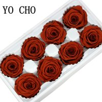 свежие розы сохранились оптовых-YO CHO 8 шт. Сохраненные Вечные Розы Головки В коробке Высокого Качества Сухие Натуральные Свежие Цветы Вечная Роза Новый Год Валентина Подарок