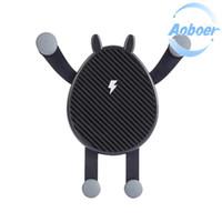 android mobile stand großhandel-Mini Car Wireless Ladestation Handy Ladegerät Autohalter Auto Elektronik Ladegerät Wireless Ladegerät Handy Android Wireless Von