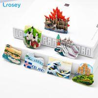 Wholesale decor canada resale online - World Travel Fridge Magnet Souvenir Venice Canada Famous Building Refrigerator Magnet Stickers DIY Home Decor message holder