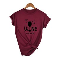 Wholesale drop shipping wine for sale - Group buy Women Tops IT S WINE O CLOCK Letters Print Women tshirt Casual Cotton Hipster Funny t shirt For Girl Lady Top Drop Ship