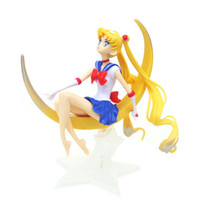 Wholesale sailor moon cartoon pvc for sale - Group buy Cartoon Sailor Moon Action Figures Moon Power Pvc Model Anime Collection Kid Gift Toy Kids birthday party Cake decoration toys B1