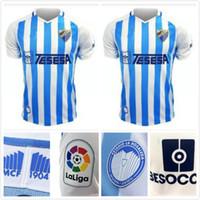 Wholesale blanco shirt for sale - Group buy 2019 MALAGA Soccer Jersey Home Blue MALAGUISTA JUANPI BLANCO JUANKAR Soccer Shirt R SANTOS ONTIVEROS GONZALEZ ANOR football Uniform