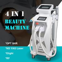 ipl cilt lazeri rf toptan satış-ND YAG LAZER Dövme cilt leke çıkarma OPT SHR epilasyon EKIGHT damarlar kaldırma RF Ipl ekipmanları