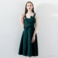 Wholesale green lady evening dress for sale - Group buy Banquet evening dress skirt female new ladies birthday party dress dress green sling in the long section