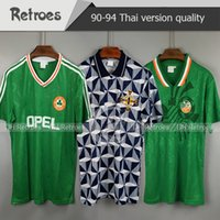 Wholesale ireland soccer jerseys for sale - Group buy 1990 Ireland RETRO soccer jersey football shirt Republic of Ireland National Team Jerseys World cup classic Football shirt