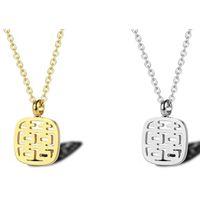 çince karakterler kolye toptan satış-Çince karakterler Yazı Salkım Luckly Çinli Means Happy Things 925 Gümüş kolye Kolye