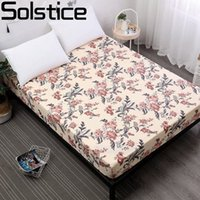 Wholesale lilac bedspreads resale online - Solstice Polyester Printing Mattress Cover Bed Mattress Protector Waterproof Bedspread Twin Bed Linens Elastic Fitted Sheet cm
