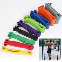 bande pour l'exercice de fitness achat en gros de-Bandes élastiques de remise en forme Unisexe 208 cm Yoga Bandes élastiques athlétiques élastiques Boucle Expander pour équipement de sport