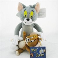 ingrosso giocattoli di jerry-2pcs / set Tom e Jerry Mouse Plush Toys Bambole di peluche ripiene animali carini per i regali dei bambini