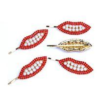 детские модные перлы оптовых-Ins девушки зажимов волос перлы дети заколки модельер аксессуары для волос для женщин BB клипы мультфильм девочек Hairclips A6076