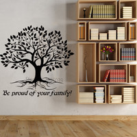 Vinyl Tree Quote Wall Decals Be Proud Your Family Tree Life Stickers For Livingroom Wall Decor Wallpapers Hot