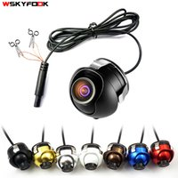 Wholesale universal car front view camera resale online - CCD HD night vision car camera front side left right rear view camera Rotation universal car reverse backup