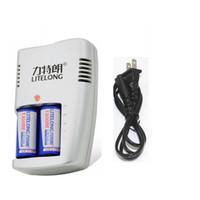 3v cr123a piller toptan satış-16340 2adet CR123A 3V lityum CR17345 kamera lityum 16340 el feneri pil + 1 Adet 3V Şarj