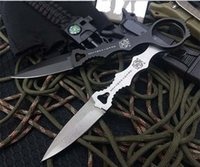 Wholesale knife fixed d2 resale online - 3 models butterfly BM176 straight knife fixed d2 blade handle folding Camping Survival Folding Knife faca C168