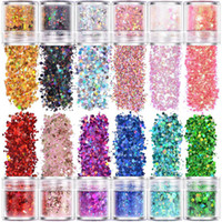 Wholesale different nails for sale - Group buy Holographic Chunky Glitter Face Body Eye Nail Festival Chunky Holographic Glitter Different Size Stars and Hexagons Shaped