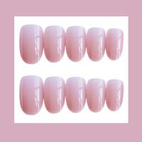 spitzen spitzen nägel großhandel-Farbe Nails Stiletto Pointed Press On Nails Schöne Form Größe Fake Sharp Nude Shimmer Nail Tips mit Kleber Sticker 24