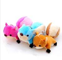 schöne große spielsachen großhandel-8 CM Mini Kawaii Eichhörnchen Plüsch Gefüllte Puppe Anhänger Big Tail Cartoon Schönes Geschenk Spielzeug für Handtasche Schlüsselring