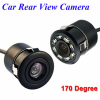 câmera de carro ccd venda por atacado-Hippcron Car Rear View Camera 8 LED Night Vision Car Inverter Auto Estacionamento Monitor de CCD Waterproof Vídeo HD