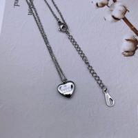 cadena larga collares colgantes al por mayor-3 colores Famosa marca de diseño de joyería de moda de acero inoxidable 316L de plata de oro rosa corazón colgante collar de cadena larga joyería de verano de las mujeres
