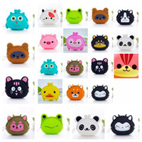 Wholesale jelly color case online – custom hot Mini Cartoon Key Wallet Bag Women Silicone Coin Purse Candy Color Lovely Animals Jelly Change Coin Bag Key case Party Supplies T2D5063