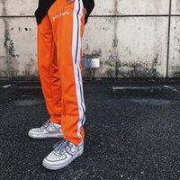 kore fermuarı toptan satış-Yeni üst Kore Hip-Hop En Iyi sürüm Palmiye Melekler PA Retro Yan ekleme Fermuar Erkekler Kadınlar İpli Sweatpants pantolon 5 Renk