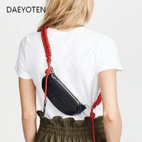 женская одежда оптовых-DAEYOTEN  Chest Bag  Handbags Women Bags Designer Waist Bag Belt Braided Female Crossbody Bags Party Purse ZM0076