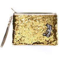 ingrosso borsa da viaggio di trucco-Borsa di paillettes portatile della busta della chiusura lampo dell'organizzatore del regalo dell'organizzatore cosmetico di modo con il sacchetto di viaggio della borsa di trucco della maniglia
