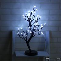 neuheit weihnachtsbaum lichter großhandel-LED Pflaumenblüte Licht Wasserdicht 48 Kopf Nachtlichter Romantische Neuheit Weihnachten Hochzeit Party Decor Baum Lampe Kreative 38yd F1