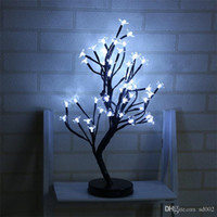 ingrosso light blossom trees-LED Plum Blossom Light Impermeabile 48 Head Night Lights Romantico Novità Natale Wedding Party Decor Albero Lampada creativa 38yd F1