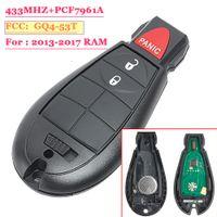 puce de télécommande de voiture achat en gros de-2 Bouton 1500 2500 3500 4500 2013-2017 Remplacement télécommande voiture télécommande porte-clé 433MHz GQ4-53T PCF7961A Chip