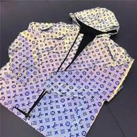 ingrosso giacche riflettenti per gli uomini-Mens Designer Jacket Hoodie Coat Zipper Luxury Reflective Casual Trench Hoodie Uomini Donne Marca Wind Coat Marchio di moda Taglia M a 2XL
