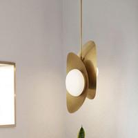 Wholesale minimalist lighting hanging for sale - Group buy Nordic minimalist LED pendant lights Iron Glass dining living room hanging lamp restaurant bedroom bedside suspension luminaire
