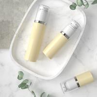 plastik kosmetische luftlose lotion großhandel-30 ml 50 ml 80 ml PET Kunststoff Gehobene Leere Vakuumpumpe Flasche Airless-Spender Glasbehälter Für Lotion Make-up Kosmetische Creme
